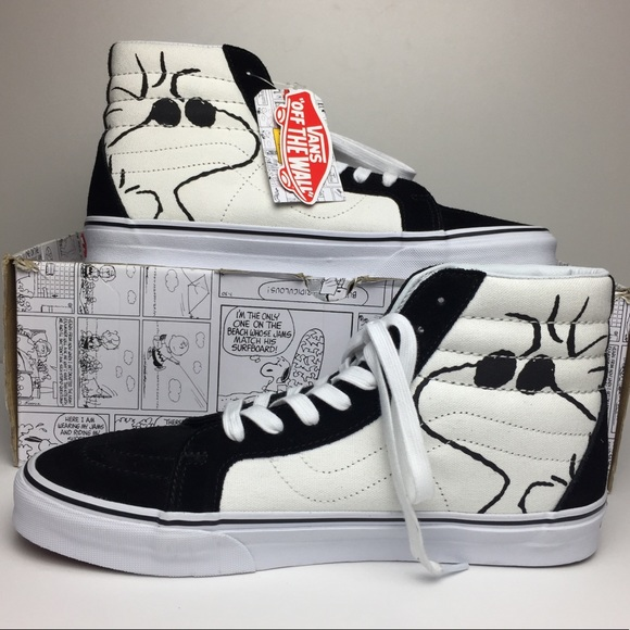 84557234e1cf0e Vans Men s SK8-Hi Reissue Peanuts Joe Cool Black